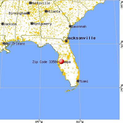 Thonotosassa, FL (33584) map from a distance