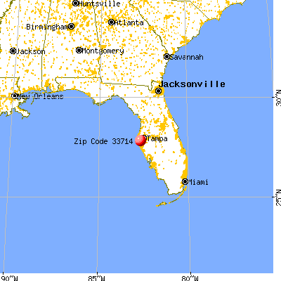 Lealman, FL (33714) map from a distance