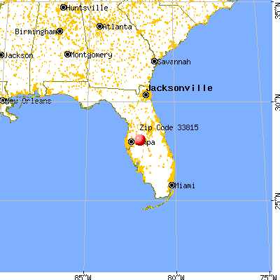 Lakeland, FL (33815) map from a distance