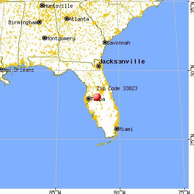 Auburndale, FL (33823) map from a distance