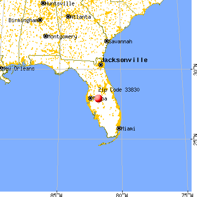 Bartow, FL (33830) map from a distance