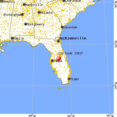 Davenport, FL (33837) map from a distance