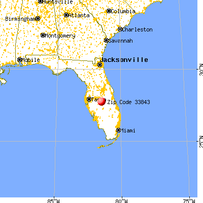Frostproof, FL (33843) map from a distance