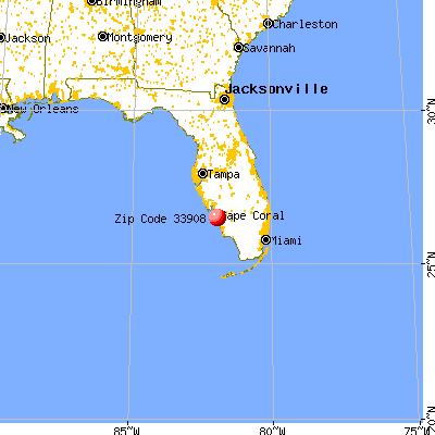 Iona, FL (33908) map from a distance