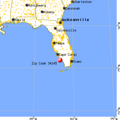 Goodland, FL (34145) map from a distance