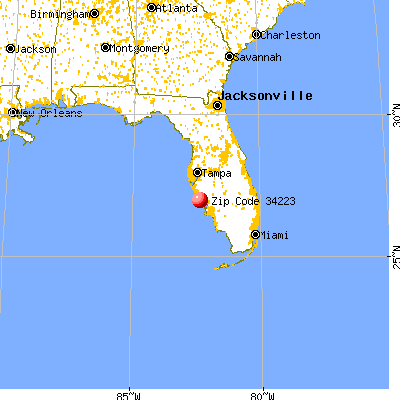 Englewood, FL (34223) map from a distance