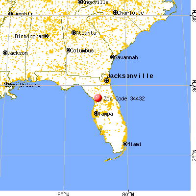 Dunnellon, FL (34432) map from a distance