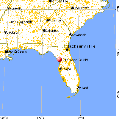 Inglis, FL (34449) map from a distance