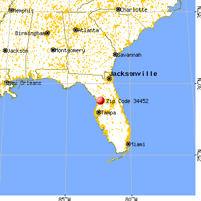 Inverness Highlands South, FL (34452) map from a distance