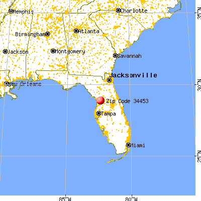 Inverness, FL (34453) map from a distance