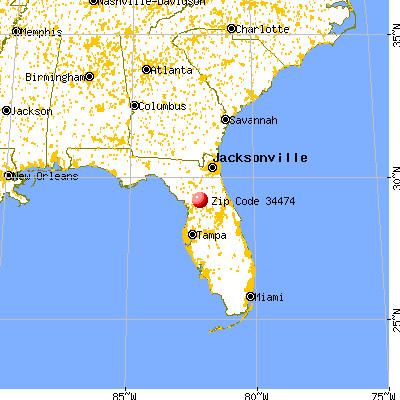 Ocala, FL (34474) map from a distance
