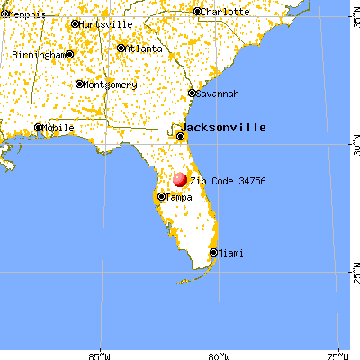 Montverde, FL (34756) map from a distance