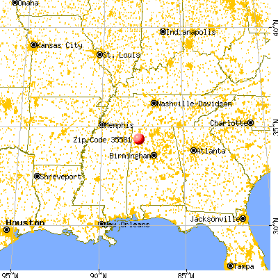 Phil Campbell, AL (35581) map from a distance