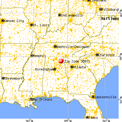 Fyffe, AL (35971) map from a distance