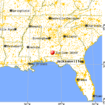 Brantley, AL (36009) map from a distance