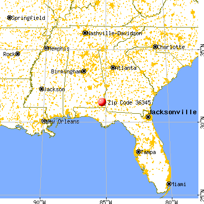Headland, AL (36345) map from a distance