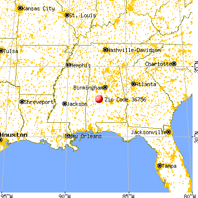 Marion, AL (36756) map from a distance