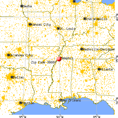 Lynchburg, MS (38680) map from a distance