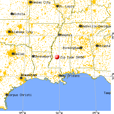 Clinton, MS (39056) map from a distance