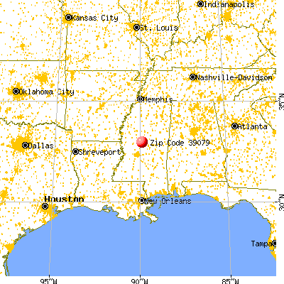 Goodman, MS (39079) map from a distance