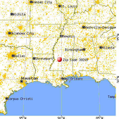 Jackson, MS (39209) map from a distance