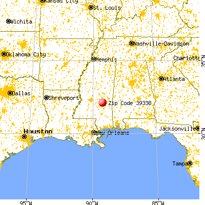 Louin, MS (39338) map from a distance