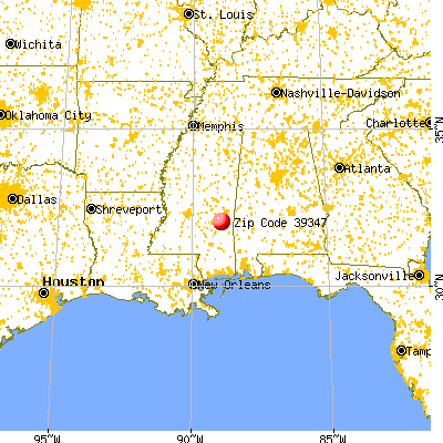 Pachuta, MS (39347) map from a distance