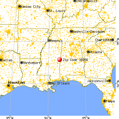 Scooba, MS (39358) map from a distance