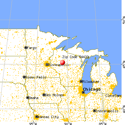 Gilman, WI (54433) map from a distance