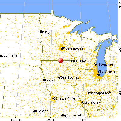 Emmons, MN (56029) map from a distance