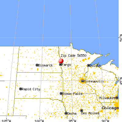 Hendrum, MN (56550) map from a distance