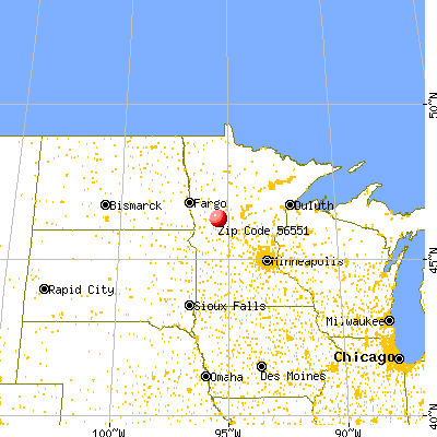 Henning, MN (56551) map from a distance