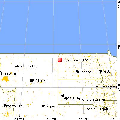 58801 Zip Code (Williston, North Dakota) Profile