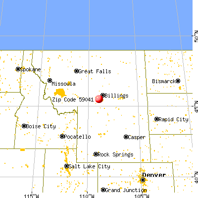 Joliet, MT (59041) map from a distance