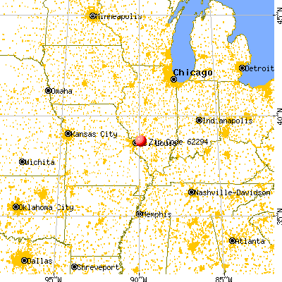 Troy, IL (62294) map from a distance