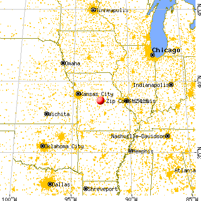 California, MO (65018) map from a distance