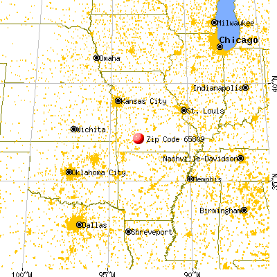 Springfield, MO (65809) map from a distance