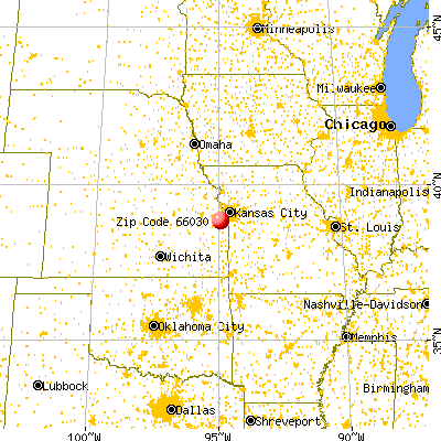 Gardner, KS (66030) map from a distance