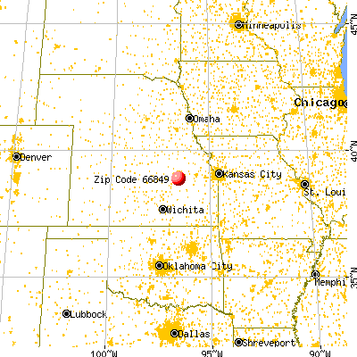 Dwight, KS (66849) map from a distance