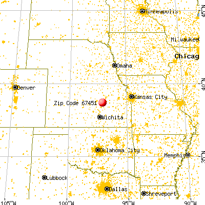 Hope, KS (67451) map from a distance