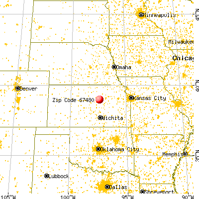 Solomon, KS (67480) map from a distance