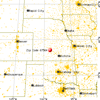 Olmitz, KS (67564) map from a distance