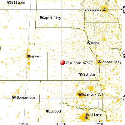 WaKeeney, KS (67672) map from a distance