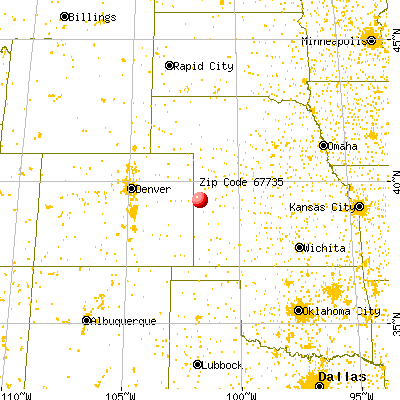 Goodland, KS (67735) map from a distance