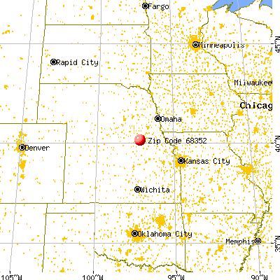 Fairbury, NE (68352) map from a distance
