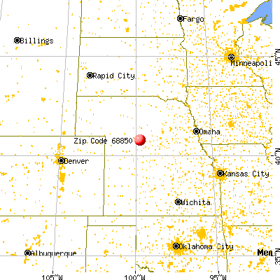 Lexington, NE (68850) map from a distance