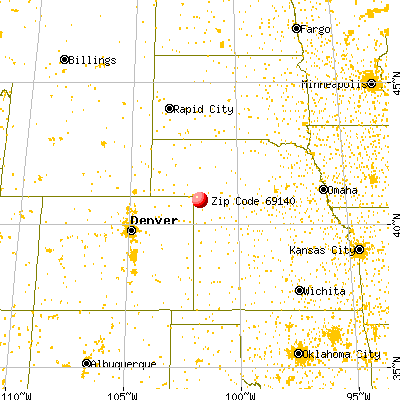Grant, NE (69140) map from a distance