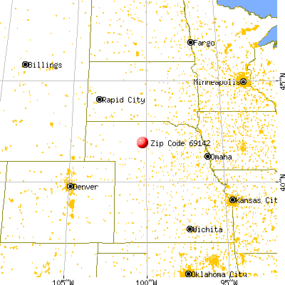 Halsey, NE (69142) map from a distance
