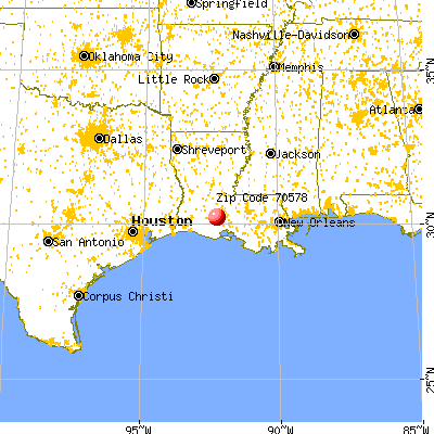 Rayne, LA (70578) map from a distance