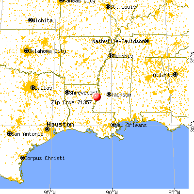 Newellton, LA (71357) map from a distance